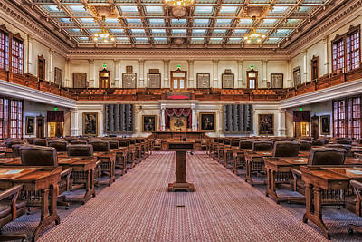 House Of Representatives - Texas State Capitol Print by Mountain Dreams