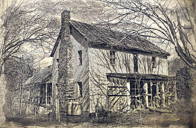 Old House Photograph - House Of Shadows by Kathy Jennings