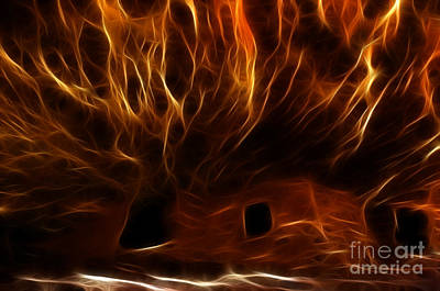 House On Fire Ruin Print by Bob Christopher