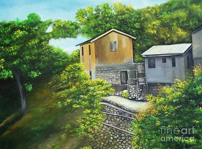 Jamaican Art Painting - House On The Hill by Kenneth Harris