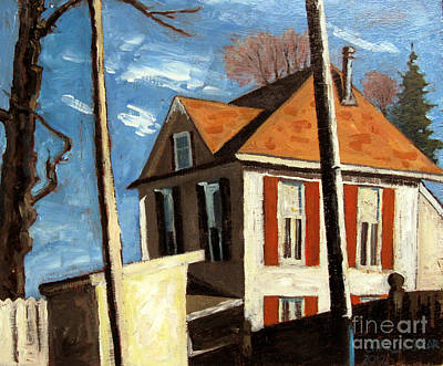 House On The Hill On Spring Street Print by Charlie Spear