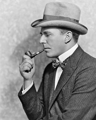 Contemplate Photograph - House Peters Smoking A Pipe by Underwood Archives
