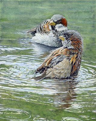 House Sparrows  Print by Ken Everett