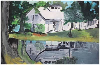 House With Lush Green Surroundings Print by Pallavi Sharma
