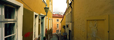 Hill Town Photograph - Houses Along A Street, Toompea Hill by Panoramic Images