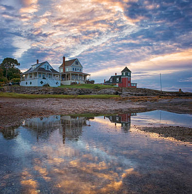 Maine Landscape Photograph - Houses By The Cribstone by Darylann Leonard Photography