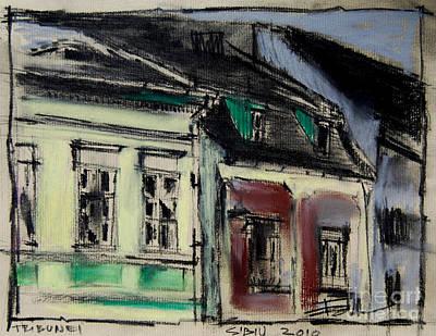 Romania Painting - Houses In Transylvania 2 by Mona Edulesco