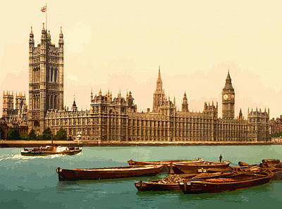 Houses Of Parliament London - England Print by Don Kuing