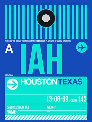 Houston Airport Poster 2 Print by Naxart Studio
