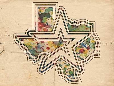 Astros Digital Art - Houston Astros Logo Vintage by Florian Rodarte