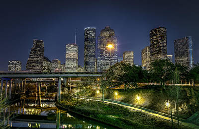 Finance Photograph - Houston On The Bayou by David Morefield