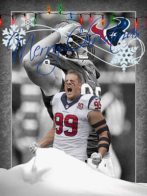 Jj Photograph - Houston Texans Christmas Card by Joe Hamilton