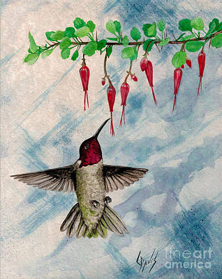 Hummingbird Painting - Hovercraft by Lew Davis