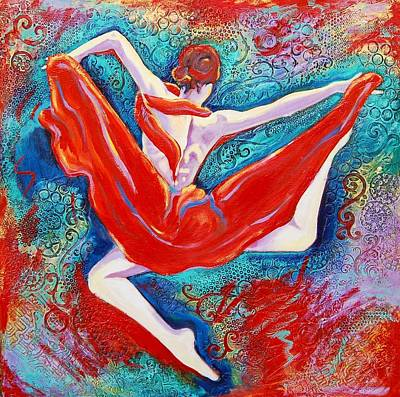 Ballet Painting - Hovering Above by Claudia Fuenzalida Johns