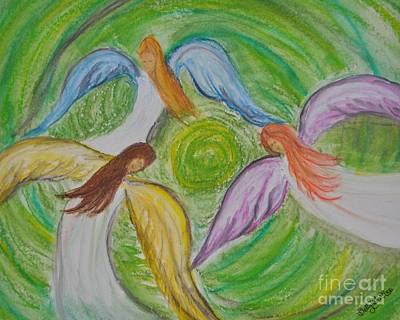 Hovering Angels Original by Sally Rice