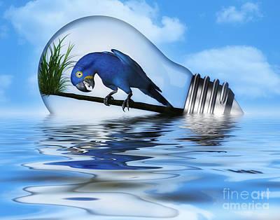 Parakeet Digital Art - How Did I Get In Here  by Elaine Manley