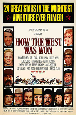 How The West Was Won Movie Poster 1962 Print by Mountain Dreams