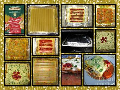 How To Make Your Own Vegan Lasagne Print by Ausra Huntington nee Paulauskaite