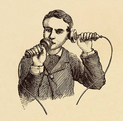 Electronic Photograph - How To Use A Telephone Illustration. by David Parker