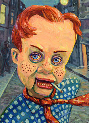 Satire Painting - Howdy Von Doody by James W Johnson