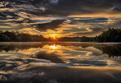 Hoyt Lake Sunrise Print by Chris Bordeleau