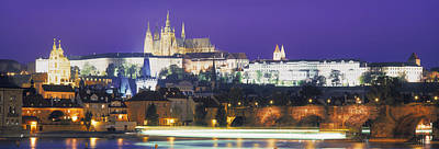 Hradcany Castle And Charles Bridge Print by Panoramic Images