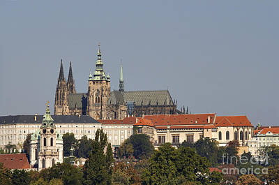Medieval Temple Photograph - Hradcany - Cathedral Of St Vitus On The Prague Castle by Michal Boubin