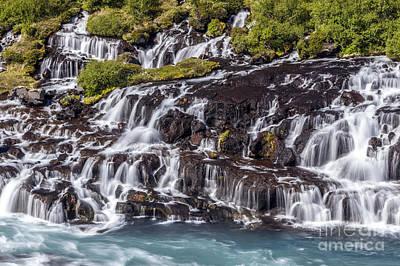 Hraunfossar Iceland 5 Print by Gunnar Orn Arnason