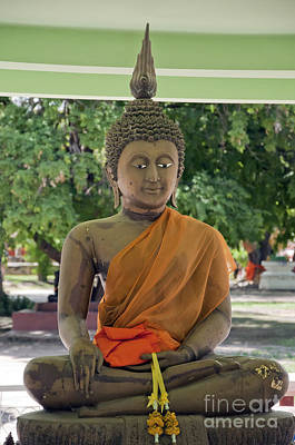Peaceful Symbols Photograph - Hua Hin Sitting Buddha by Antony McAulay