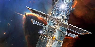 Hubble Space Telescope Print by Nasa/esa And Jeff Hester (arizona State University)/detlev Van Ravenswaay