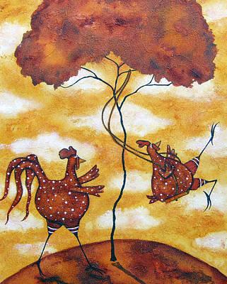 Swing Painting - The Swing by Debi Hubbs