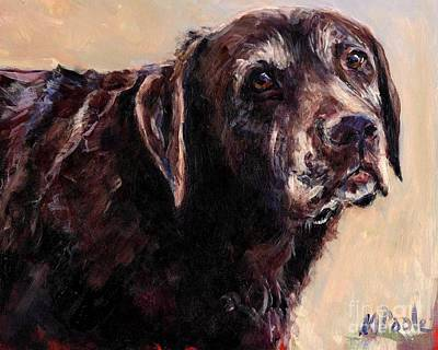 Chocolate Labrador Painting - Hudler by Molly Poole