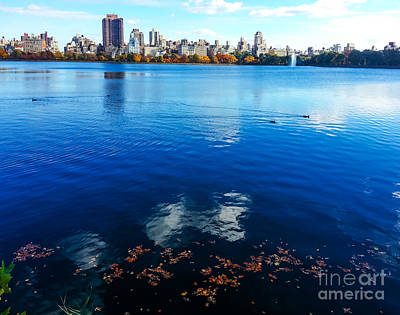 Duck Photograph - Hudson River Fall Landscape by Charlie Cliques