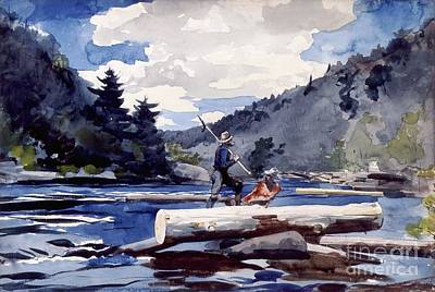 Logging Painting - Hudson River - Logging by Pg Reproductions