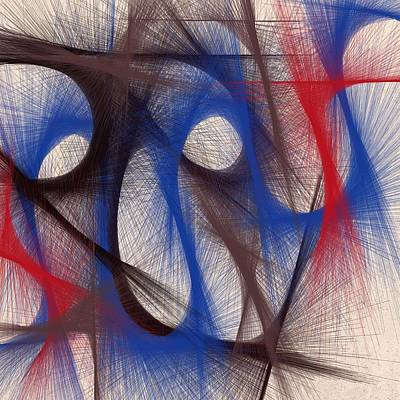 Hues Of Blue Print by Marian Palucci-Lonzetta