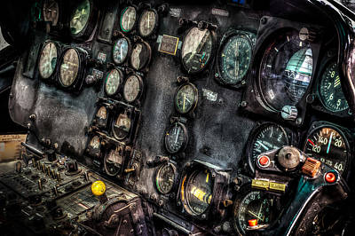 Huey Instrument Panel 2 Print by David Morefield