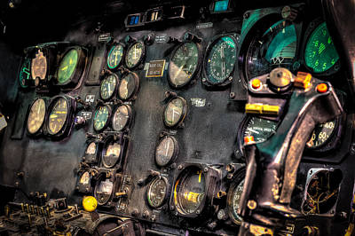 Helicopter Photograph - Huey Instrument Panel by David Morefield