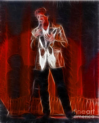 Huey Lewis Photograph - Huey Lewis-fractal by Gary Gingrich Galleries