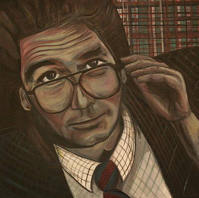 Huey Lewis Painting - Huey Lewis Says It's Hip To Be Square by Kate Fortin