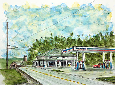 Nashville Painting - Huff's Market by Tim Ross