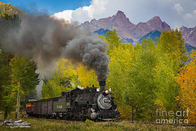 Locomotive Photograph - Huffing And Puffing by Inge Johnsson