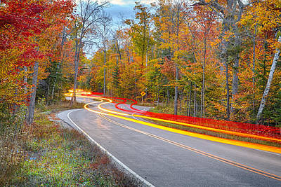 Fall Foliage Photograph - Hugging The Curves by Adam Romanowicz