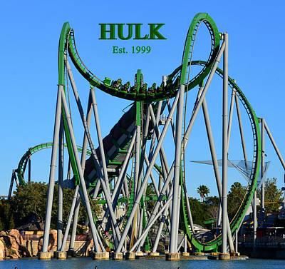 Incredible Hulk Photograph - Hulk Coaster 1999 by David Lee Thompson