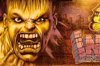 Hulk Graffiti In The Bronx New York City Print by Sabine Jacobs
