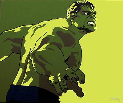 Incredible Hulk Painting - Hulk by Ian  King