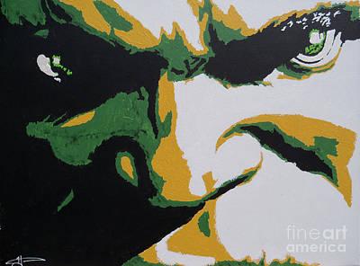 Incredible Hulk Painting - Hulk - Incredibly Close by Kelly Hartman