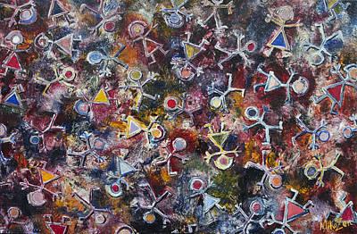 Atom Mixed Media - Human Atomz by Art By Miko