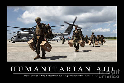 Japan Relief Photograph - Humanitarian Aid Inspirational Quote by Stocktrek Images