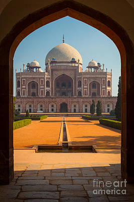 Humayun's Tomb Archway Print by Inge Johnsson
