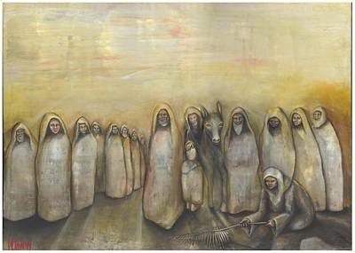 Palm Sunday Painting - 'humble Procession Of The King' by Whitney Tomlin